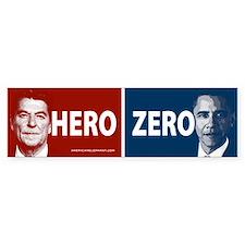 Obama Hero or Zero Bumper Car Car Sticker