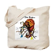 Diving for the big lobster Tote Bag