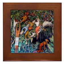 Diego Rivera Art Framed Tile Crossing the Ravine