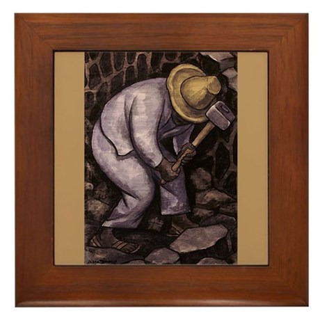 Diego Rivera STONE MASON Art Framed Tile