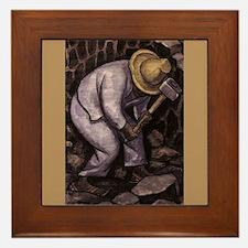 Diego Rivera STONE MASON Art Framed Tile