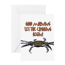 Let the Crabbing begin! Greeting Card