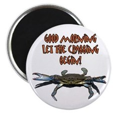"Let the Crabbing begin! 2.25"" Magnet (10 pack"