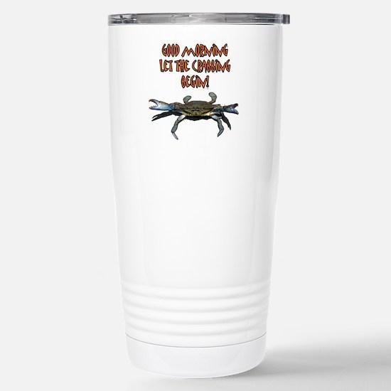 Let the Crabbing begin! Stainless Steel Travel Mug