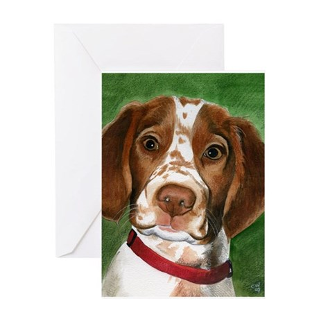 Brittany Puppy Love Greeting Card