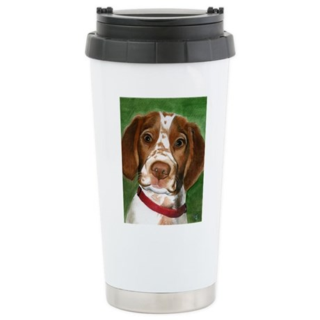Brittany Puppy Love Stainless Steel Travel Mug