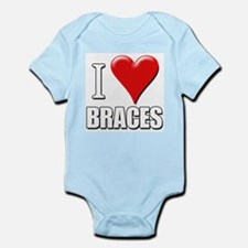 I Love (Heart) Braces Infant Creeper
