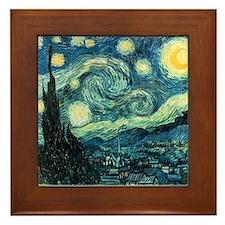 Van Gogh Ceramic Art Framed Tile Starry Night