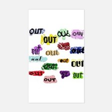 Out Out Out Rectangle Decal