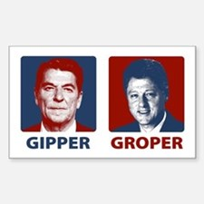 Gipper or Groper Rectangle Decal