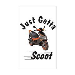 Just Gotta Scoot Blur Rectangle Decal