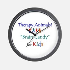 Therapy Animals!  Brain Candy Wall Clock
