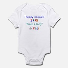 Therapy Animals!  Brain Candy Infant Creeper