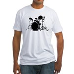 give the drummer some Fitted T-Shirt