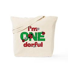 ONEderful Ladybug Birthday Tote Bag