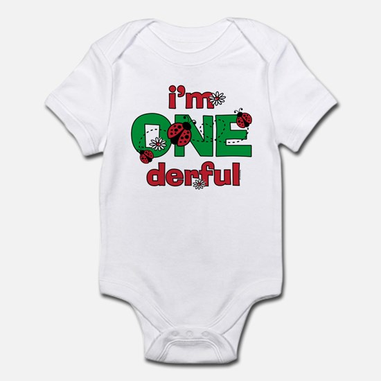 ONEderful Ladybug Birthday Infant Bodysuit