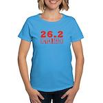 26.2 never again Women's Dark T-Shirt