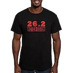 26.2 never again Men's Fitted T-Shirt (dark)