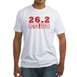 26.2 never again Fitted T-Shirt