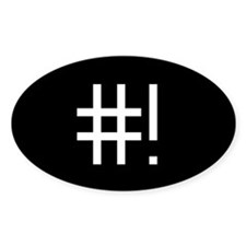 #! Stickers (Oval 10 pk)