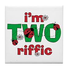 TWOriffic Ladybug Birthday Tile Coaster
