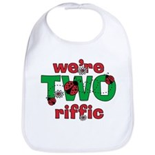 TWOriffic Ladybug Twins Birthday Bib