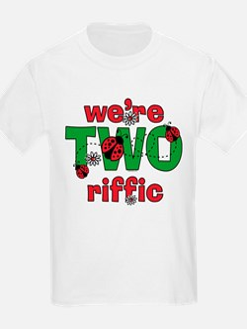 TWOriffic Ladybug Twins Birthday T-Shirt