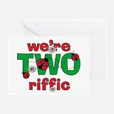 TWOriffic Ladybug Twins Birthday Card