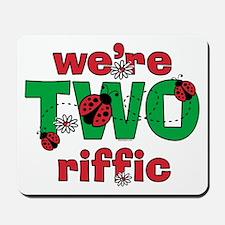 TWOriffic Ladybug Twins Birthday Mousepad