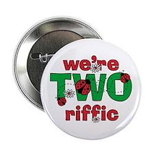 "TWOriffic Ladybug Twins Birthday 2.25"" Button"