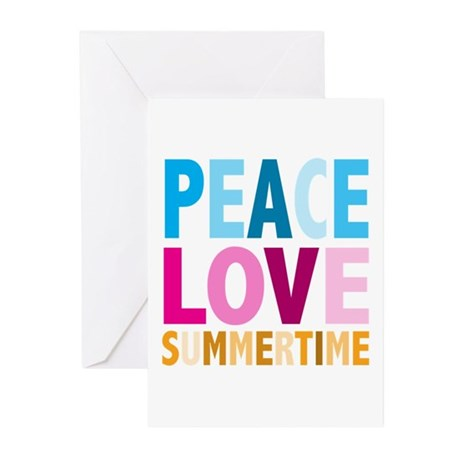 Peace Love Summertime Greeting Cards (Pk of 10)