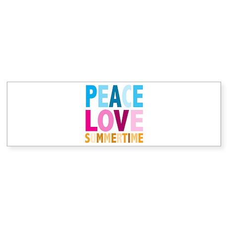 Peace Love Summertime Bumper Sticker