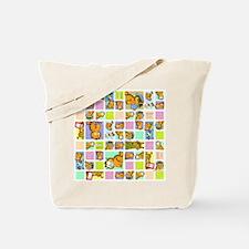 Classic Garfield Squares Tote Bag