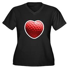 Golf Love Women's Plus Size V-Neck Dark T-Shirt