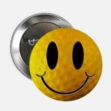"Golf Smiley 2.25"" Button (10 pack)"
