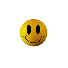 Golf Smiley Mini Button (10 pack)