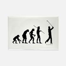 Golf Evolution Rectangle Magnet (10 pack)