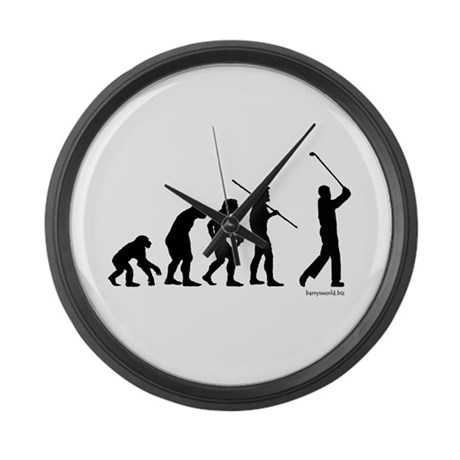 Golf Evolution Large Wall Clock