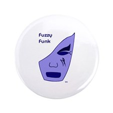 "Fuzzy Funk Mask 3.5"" Button"