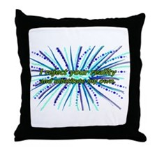 Cute I reject your reality Throw Pillow
