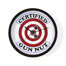 Certified Gun Nut Wall Clock
