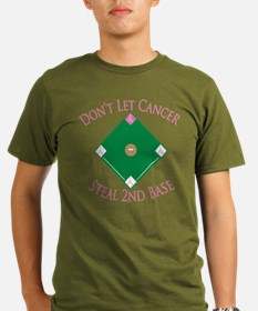 Cancer Steal 2nd Base Organic Men's T-Shirt (dark)
