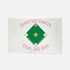 Cancer Steal 2nd Base Rectangle Magnet