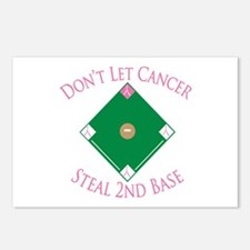 Cancer Steal 2nd Base Postcards (Package of 8)