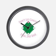 Cancer Steal 2nd Base Wall Clock