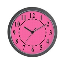Eclectic Pink Satin Look Wall Clock