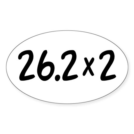 26.2 x 2 Oval Sticker