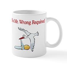 No Mr Wrong Stork Mug