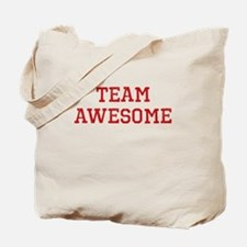 Team Awesome (red) Tote Bag