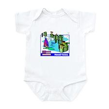 Hawaii Map Infant Bodysuit
